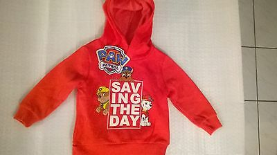 Paw Patrol / Hoodie / Boys / Sizes 2, 3, 4 and 5.