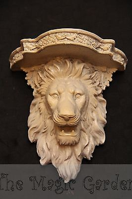 Lion head shelf plaster cement concrete ornament latex moulds molds