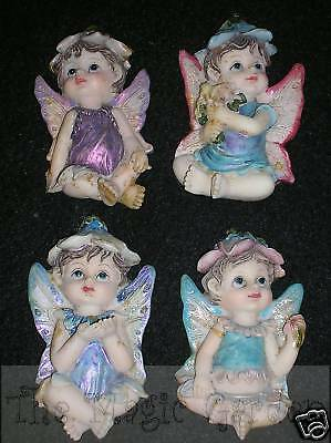 Set of 4 flower baby fairies fairy plaster craft latex moulds molds
