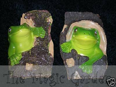 2 tree frogs plaster concrete craft molds moulds