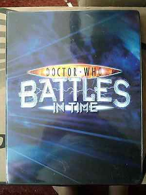 Doctor Who Battles in Time Near Complete 217 Invader Set In Binder -
