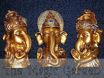 3 Bali buddha buddah ganesh plaques cement plaster resin latex molds moulds