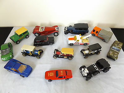 Lovely Job Lot Of 14 Vintage Diecast Toy Cars.