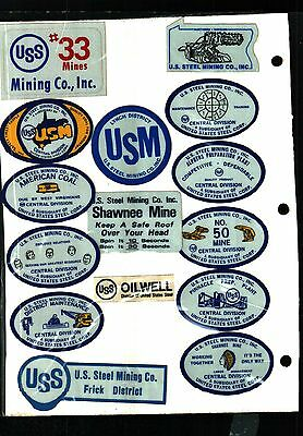 Huge Lot Of 50 Different Us Steel Coal Co. Coal Mining Stickers