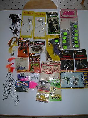 Lot of 45 Assorted Jigs. Many NIB NOS. All Great. Heddon, Bomber, Arkie & More.