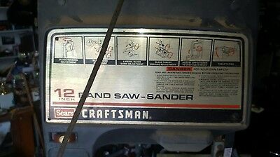 12inch band saw-sander on stand(Sears Craftsman)