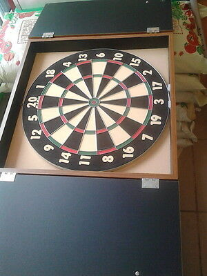 winmau dartboard and cabinet. been hung but never used.