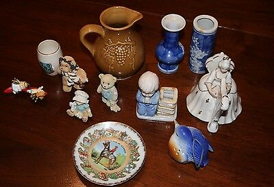 Junk Drawer Lot RCMP Plate Boyd's Bears and More