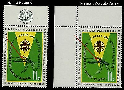 """UN Scott #103 """"Variety Pregnant Mosquito"""" VERY RARE VARIETY Mint Never Hinged !!"""
