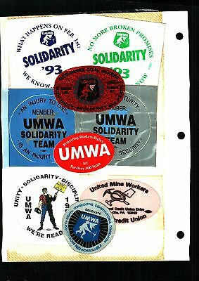 Huge Lot Of 100 Different  Umwa  Coal Mining Stickers