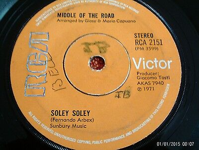 70's - Middle Of The Road - Soley Soley - UK