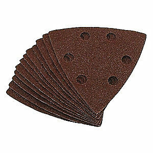 "EAZYPOWER Aluminum Oxide Emery Cloth Sanding Pad,AO,3-1/8"",PK5, 50603/BAG5"