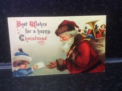 240. Best Wishes for a Happy Christmas Postcard