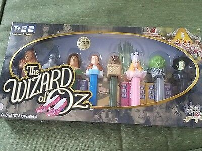 PEZ COLLECTOR'S SERIES 7Oth ANNIVERSARY WIZARD OF OZ NIB W 8 CHARACTERS