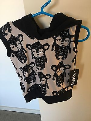 Brand New With Tags Hipsqueaks Hooded Vest Baby Boy Clothing