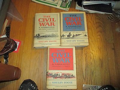 Three CIVIL WAR books by Shelby Foote