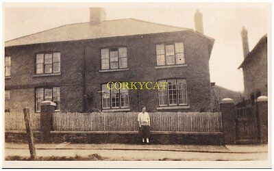 "Vintage photo (homemade).unknown house ""Pemmer villa"" & lady...@.1930's ??"