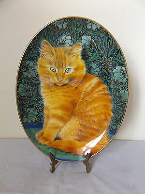 Beautiful Royal Worcester Lesney Anne Ivory Cat Collector Plate.