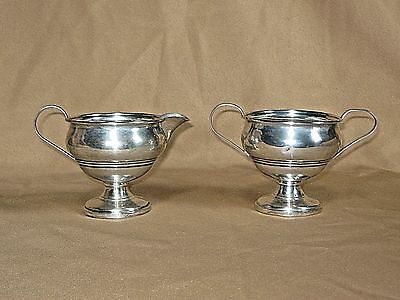 Sterling Silver Sugar & Creamer <M> No Monogram