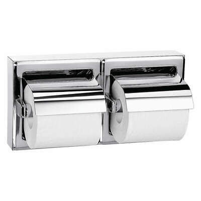 BRADLEY Toilet Paper Holder,Double Post,(2) Roll, 5126-000000, Bright Silver