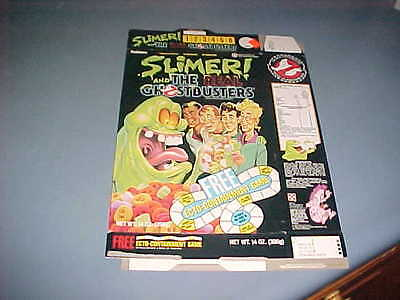 1990s Ralston SLIMER & GHOST BUSTERS cereal box FLAT
