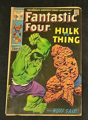 Fantastic Four Hulk Vs Thing No. 112 ORIGINAL COMIC BOOK