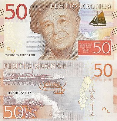 Sweden 50 Kronur (2016) - Artist-Poet/Lighthouse/p70 UNC