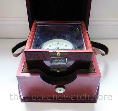 Vintage Russian Marine Chronometer Ships Clock Free Shipping Within U.s.a. 48