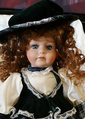 Collectible  Cute Sitting Porcelain Doll