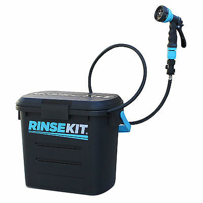 RinseKit Portable Shower Outdoor Camping Rinsing Pressurized Spray Hose