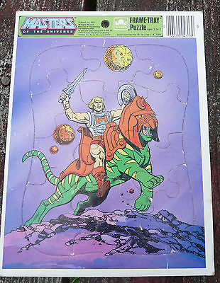 VTG 80s MASTERS OF THE UNIVERSE FRAME TRAY puzzle HE-MAN MATTEL 1984 COMPLETE