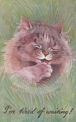 """1917 a/s LOUIS WAIN CAT """"I'm tired of waiting"""" RAPHAEL TUCK & SONS """"OILETTE"""""""