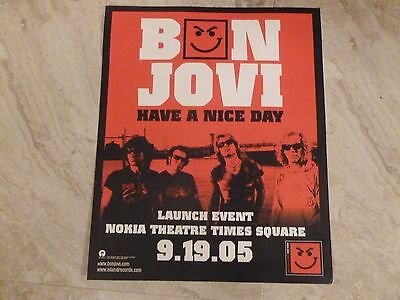 Bon Jovi Have a Nice Day Launch Event Nokia Theatre Times Square 09/19/05 NYC