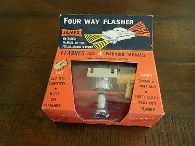 Classic NOS Jamex 4 WAY Emergency Flasher Warning Signal Auto Truck Rat Rod Hot