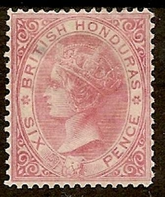BRITISH HONDURAS 1872-79  WMK  CROWN CC P12½ 6d SG9 CAT £400