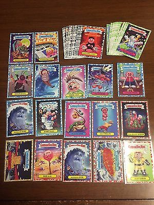 2017 GPK Garbage Pail Kids GOLD BLUE RED GREEN BLACK PARALLEL LOT X58 COLLECTION