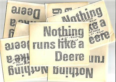 "John Deere Nothing Runs Like A Deere Window Sticker 6"" X 4.5"" Lot Of 7"