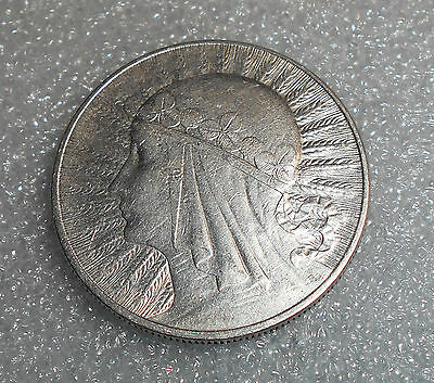 Poland 10 Zlotych Silver Coin 1932 Circulated / Queen Jadwiga (1)