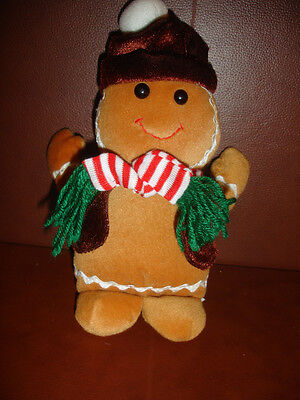 "9"" Vintage 1954 Musical Gingerbread Christmas Stuffed Animal Plush"