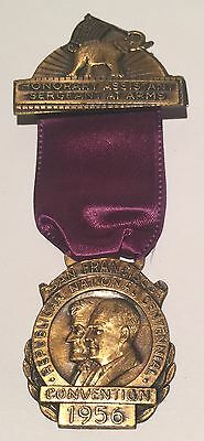 1956 Sargent At ArmsSan Francisco Republican National Centennial ConventionBadge
