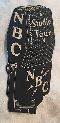 Vintage 1935 Nbc Radio City New York Studio Tour Souvenir Ticketstub  Bookmark