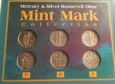 Mint Mark Collection ~SILVER Mercury & SILVER Roosevelt  Dimes