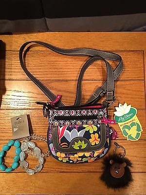 Girls Lily Bloom Purse, 3 Studio S Bracelets, Coach Key Chain New With Tags