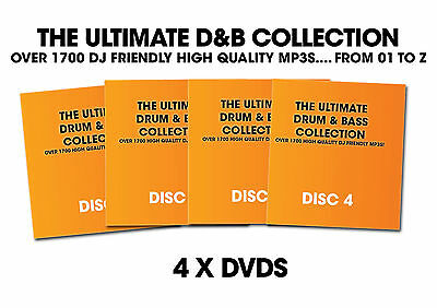 Drum and Bass D&B MP3 Collection Over 1700 Tracks