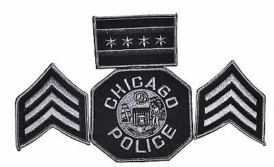 Chicago Police Tactical Sergeant Patch Set - New