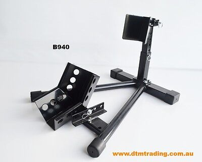 Motorcycle adjustable parking wheel stand chock (B940) @ DTM Trading