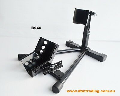 Motorcycle adjustable parking wheel stand chock(B940)