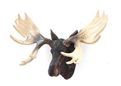 Moose Head Bust Life Like Realistic Home Cabin Indoor Outdoor Decor