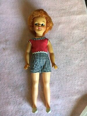 Vintage 1960's Tammy Family Pepper Doll By Ideal G-9-W Red Hair