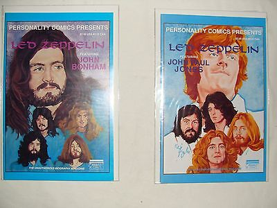 Lot Of 2 Led Zeppelin 3 & 4 - Personality Comics 1St Prints - Vf